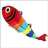 XQDSP Bunter großer Goldfisch-Drachen der Krake Einfach zu fliegen-Drachen. Perfekter Kite für Erwachsene und Kinder! Drachen, der leicht fliegt,Figurecolor