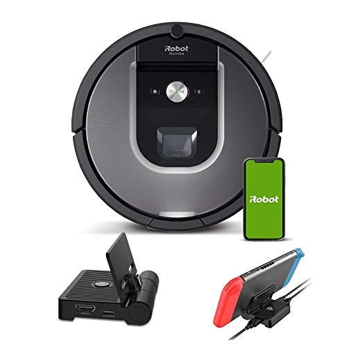 iRobot Roomba 960 Robot Vacuum Holiday Bundle, Wi-Fi Connected Vacuuming Robot, Works with Alexa, Smart Mapping for Pet Hair, Carpets, Hard Floors + NexiGo Nintendo Switch Charging Station Bundle