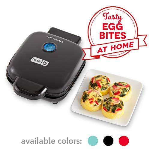 Dash DBBM450GBBK08 Deluxe Bite Maker Egg Cooker, 4 Single, Black