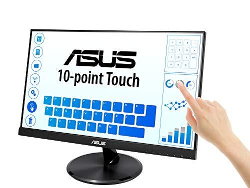 ASUSディスプレイ21.5インチ10点タッチパネル液晶モニターVT229H(IPS/75HZ/フレームレス/HDMI,D-Sub/USBポート/VESA/ブルーライト軽減/3年保証)