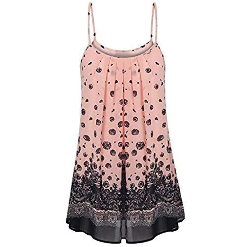 TWIFER Damen Sommerkleid Mode Hosenträger Kleid Sling Gedruckt Sommer Lässig Freizeitkleider