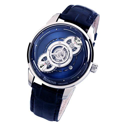 Behrens Original de los hombres automático reloj mecánico vestido relojes para hombres impermeable deportes reloj espacio viajero b012