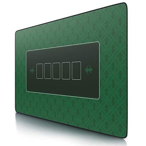 CSL- Tapis de Poker rectangulaire Vert 1000x600mm - sous-Main Bureau, Table pour Jeux de Poker - Taille Large XXL - Surface en Tissu, Base antidérapante - Précision et Confort