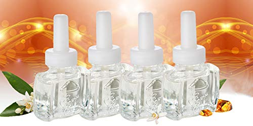 (4 pack) Scent Fill Soft Cashmere & Amber Plug in Refill Air Freshener - Fits Air Wick® Scented Oil Warmers