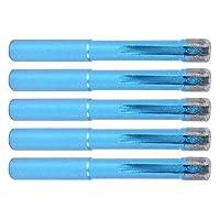 5個穴ドリルビット、サイズ72 x 8mm/2.8 x 0.3インチの直径のダイヤモンド交換穴カッターパイロットビットは、花崗岩/セラミックタイル/コンクリート用の青8mmをパーツします。
