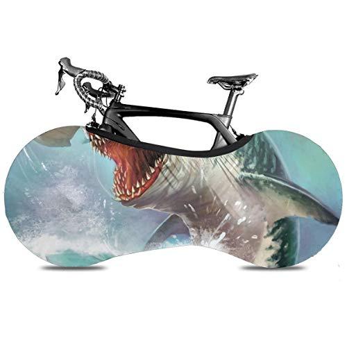Neón Camo Tiburones Portátil Cubierta de Bicicleta Interior Anti Polvo Alta Elástica Cubierta De Rueda De Bicicleta De Protección Rip Stop Neumático Carretera Mtb Bolsa De Almacenamiento, Tiburones Hammerhead 1, talla única