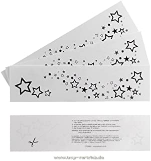 2 x Sterne Tattoo Bogen - Rihanna einma temporary Tattoo Ste