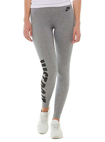 Nike Oberbekleidung Leg A See Just Do It Tights Leggings, Carbon Heather/Black, L