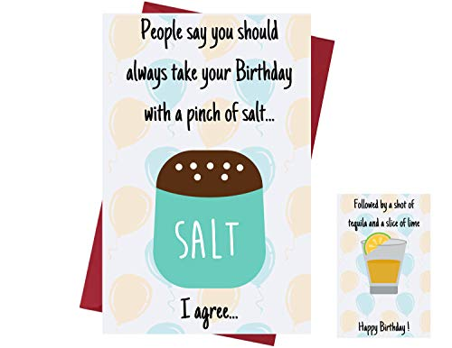 Funny Birthday Card For Men & Women � Birthday Card For Drinkers - Prank Birthday Card � Funny Birthday Card for Friends, Family, Coworkers, Etc. � Alcohol Birthday Card With Envelope