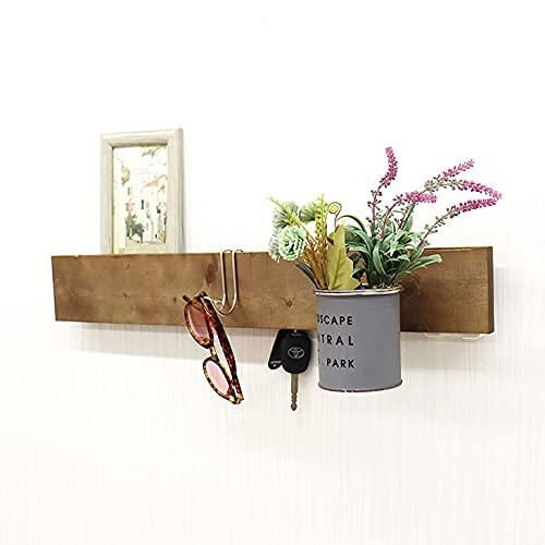 DIY 壁に付けられる家具 ウォールシェルフ 石こうボード 賃貸 MY WALL BAR interior KIT(幅60cmKIT) (ブラウン)