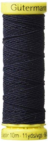Gutermann Elastic Thread 11 Yards-Navy