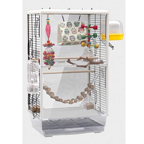 NYKK Birdhouses/Bird Cage Large Parrot Bird Cage Cockatiel Parakeet Canary Lovebird Budgie Parrotlet Finch Parrot Cage Pet Bird Cage with Ladder Hanging Toys Bird Cages for Small Birds (Color : C)