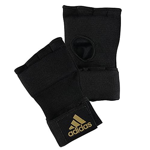 adidas, Sottoguanti da boxe Super, Nero (black/yellow trim), L