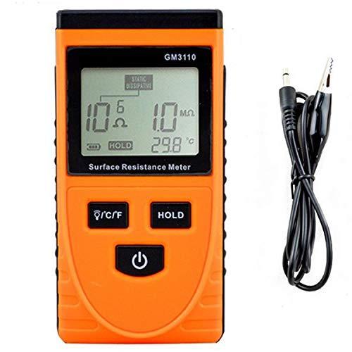 GM3110 Digital-Oberflächenwiderstand Tester, ESD Tester, Digital-Multimeter Elektrostatische Analyzer Multimeter Digital Tester