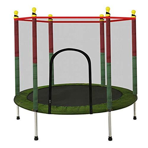 LKFSNG Kindertrampoline, tuintrampoline met veiligheidsnet - PVC waterdichte deksel, 140 cm binnen en buiten klein speelgoed trampoline