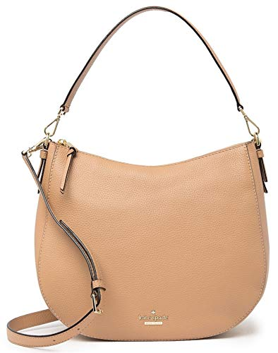 "Jackson Street Collection; Leather Removable, adjustable crossbody strap, 19.5""-22.5"" drop; Removable top handle, 10"" drop Top zip closure; gold tone hardware One exterior back zip pocket; One interior zip pocket, 2 slip pocket Fully lined; 12""W X 10..."