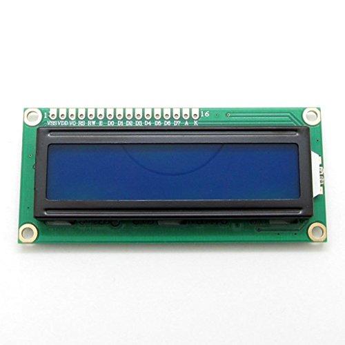 LCD-Display-Modul 1602 16x 2Zeichen, HD44780, blaue Hintergrundbeleuchtung