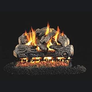 RealFyre Charred Northern Oak Log 24-in - Logs and G45 Burner Kit, Natural Gas