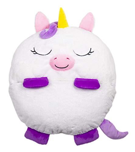 Happy NPPERS- Almohada 2 en 1 Que se transforma en Saco de Dormir, Unicornio