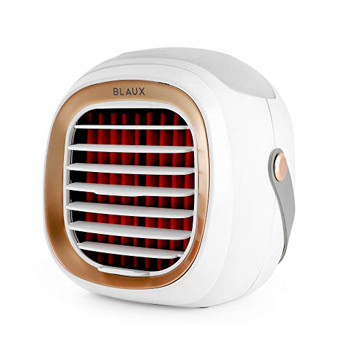 BLAUX Evaporative Air Cooler G2 - Blast Auxiliary Personal Cooler | 2000 mAh USB Battery Powered Portable Swamp Cooler | Mini Portable Cooling Fan For Home | Ultra-Quiet Battery Powered Cooler