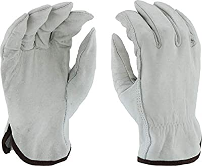 West Chester 995 Standard Grain Cowhide Leather Driver Work Gloves: Straight Thumb