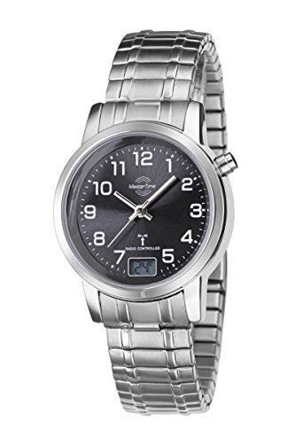 Master Time Funk Quarz Damen Uhr Analog-Digital mit Edelstahl Armband MTLA-10309-22M
