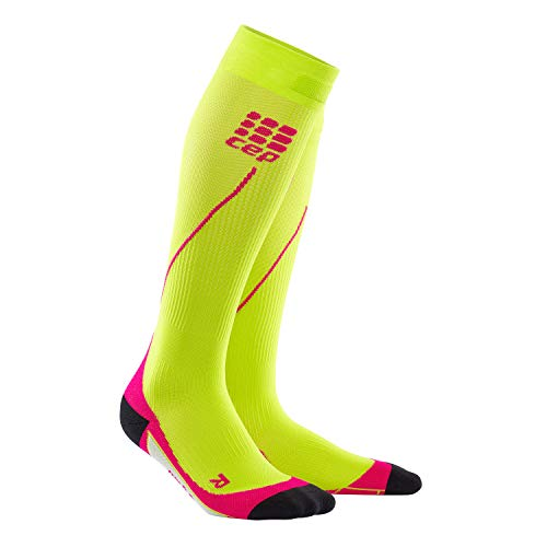 CEP - RUN SOCKS 2.0, long running socks for women, orange / pink, size IV, compression sport socks