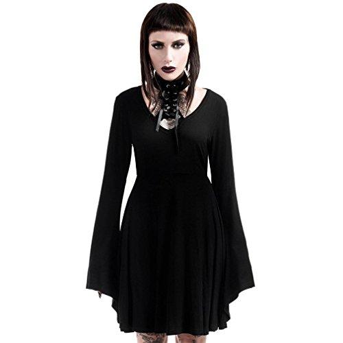 Killstar Gothic Kleid - Spyda Lace-Me-Up L
