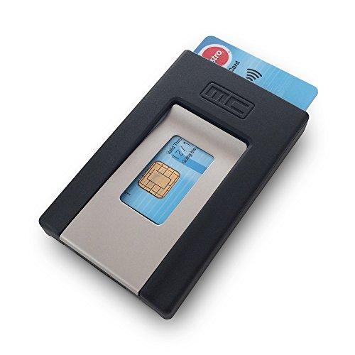 MCPOCKET - Estuche para tarjetas y Pinza para billetes en uno.
