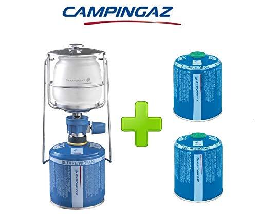 ALTIGASI Lanterne Lampe à gaz Campingaz LUMOGAZ Plus de 80 W + 2 pièces Cartouche CV 470 de 450 GR