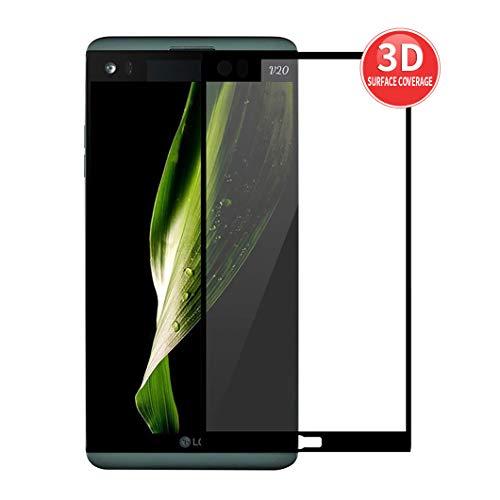 X-Dision Bildschirmschutzfolie kompatibel mit LG V20 [Schwarz], [High Definition] [Empfindlichkeit], 3D-Hartglas, [Blasenfreie Installation] [Kratzfest]