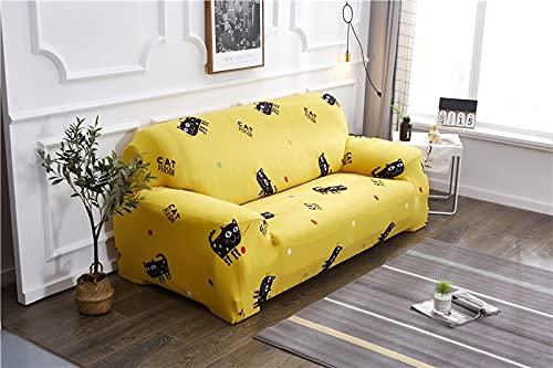 WXQY Einfache elastische Sofaschutzhülle All-Inclusive rutschfeste Sofaschutzhülle Kombination L-förmige Ecksofabezug A24 4-Sitzer