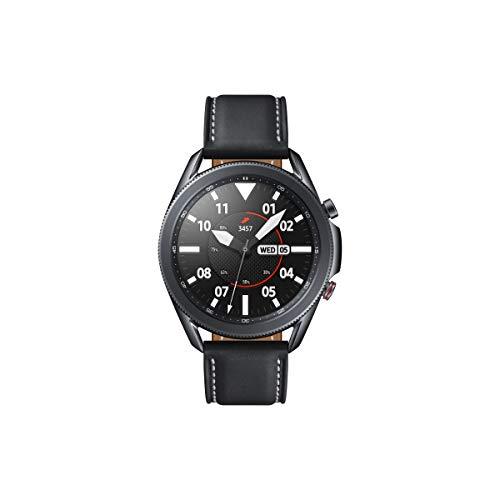 Samsung Galaxy Watch3, runde Bluetooth Smartwatch für Android, drehbare Lünette, LTE, Fitnessuhr, Fitness-Tracker, großes Display, 45 mm, schwarz, inkl. 36 Monate Herstellergarantie [Exkl. bei Amazon]