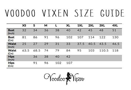 Neue Smaragd Grün Voodoo Vixen 50er Jahre Rockabilly Vintage Stil Spitzen Kleid (4XL) - 4