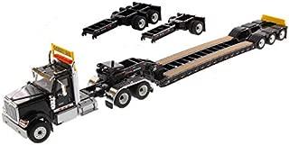 International HX520 Tandem Tractor Black with XL 120 Lowboy Trailer 1/50 Diecast Model by Diecast Masters 71017