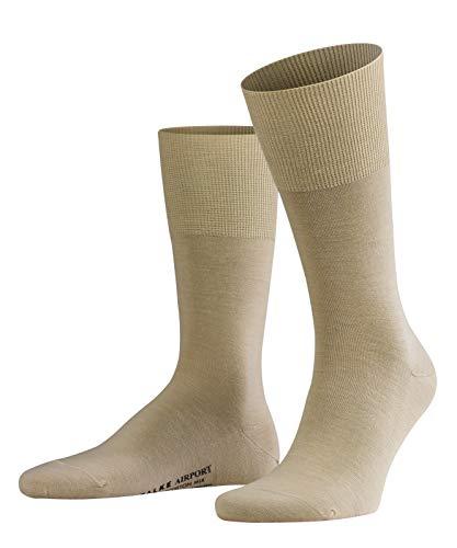 FALKE Herren Socken Airport - Merinowoll-/Baumwollmischung, 1 Paar, Beige (Sand 4320), 41-42 (UK 7-8 Ι US 8-9)