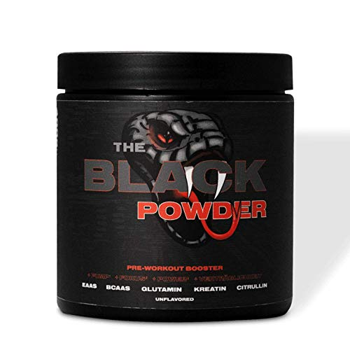 The Black Powder - by The Black Mamba | Die Power der gefährlichsten Schlange der Welt | Made in Germany | EAA | BCAA | Citrullin | 400g | Pre-Workout Booster (Hamburger Mutzen/Schmalzgebäck)