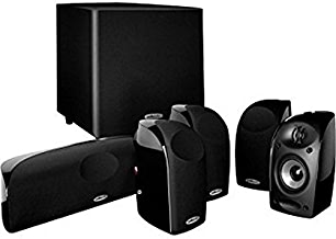 """Polk Audio Blackstone TL1600 Compact Home Theater System   Total 6 Items - 4 TL1 Satellite Speakers, 1 Center Channel & an 8"""" Powered Subwoofer   Bass Port   Detachable Grilles Included"""