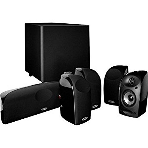 Polk Audio Blackstone TL1600 Compact Home Theater System | Total 6 Items - 4 TL1 Satellite Speakers, 1 Center Channel & an 8' Powered Subwoofer | Bass Port | Detachable Grilles Included