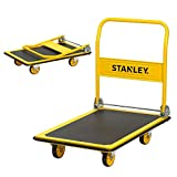 Stanley PC528, Steel Portable Foldable Platform Trolley Truck Dolly Cart, Push trolley used to move heavy weight for all indoor and outdoor manoeuvring-300 kg Capacity, (61 cm x 91 cm)