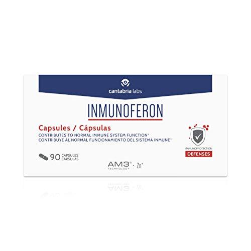 Inmunoferon Complemento Alimenticio - Refuerza el Sistema Inmunológico, Ayuda a las Defensas, Fórmula Exclusiva con AM3, Sin Gluten, Sin Lactosa, 90 cápsulas