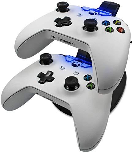 Eaxus® Ladestation für 2 x Xbox One Controller - ⚡ Docking Station mit LED Beleuchtung