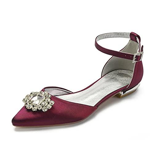 Zapatos De Boda para Mujer Sandalias Planas con Punta Puntiaguda Zapatos De...