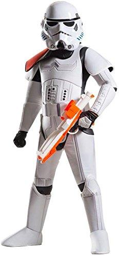 Rubies 's–Disfraz de super Deluxe oficial de Disney Star Wars Stormtrooper, los niños–tamaño grande