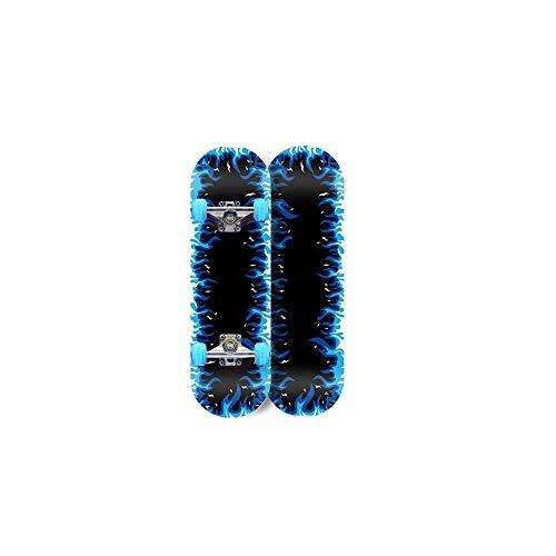 Kaikai Scooter de Cuatro Ruedas, patineta Doble, Tablero Corto, monopatín Luminoso para Principiantes, Adultos, niños y niñas, 80x20x10cm (Color : Blue, Size : 80X20X10cm)