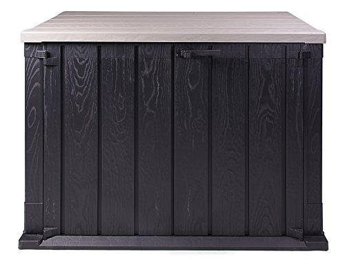 Ondis24 Mülltonnenbox Gartenbox Storer Gerätebox abschließbar für 2 Mülltonnen (1330 Liter, Anthrazit)