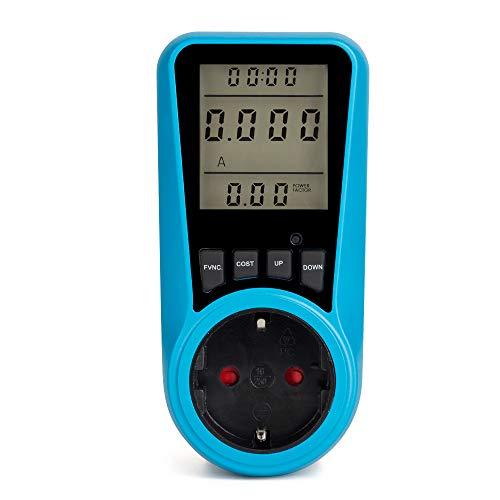 Blusea Stromverbrauchszähler Leistungsmesser Steckdose LCD Anzeige Stromverbrauch Leistungszähler Buchse Energie Watt Volt Ampere Leistung KWH Verbrauch Analysator Monitor Outlet AC230V ~ 250V