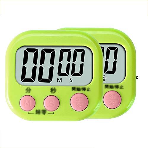 SDC Magnetische LCD-Digital-Küche-Timer, Big Digits, lauter Alarm, magnetische Rückseite, Stand Küchen-Timer, for Fitness-Studio, Treffen, Lebensmittel Kochen, Ein großer Alarm