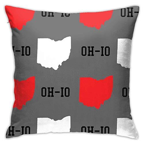 shenguang ThrowKissenbezug New Oh-Io State Gray Fashion Cushion Cover 18 * 18