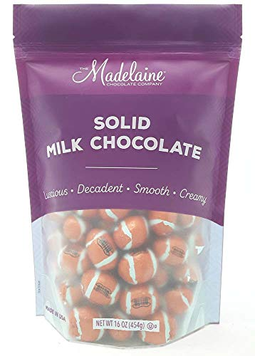 Madelaine Premium Milk Chocolate Footballs Wrapped In Italian Foil - Super Bowl Party Favor Candy (1 LB)